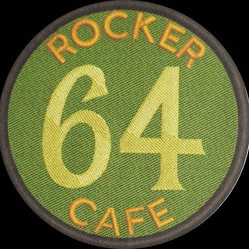 64 Rocker Cafe Embroidered Biker Patch