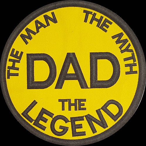 DAD - The Man The Myth The Legend Embroidered Biker Patch