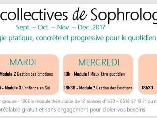 INSCRIPTIONS OUVERTES - Séances Collectives Sophrologie - Rentrée Septembre 2017
