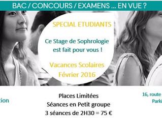 STAGE Spécial Etudiants / Lycéens = Gestion du stress des examens