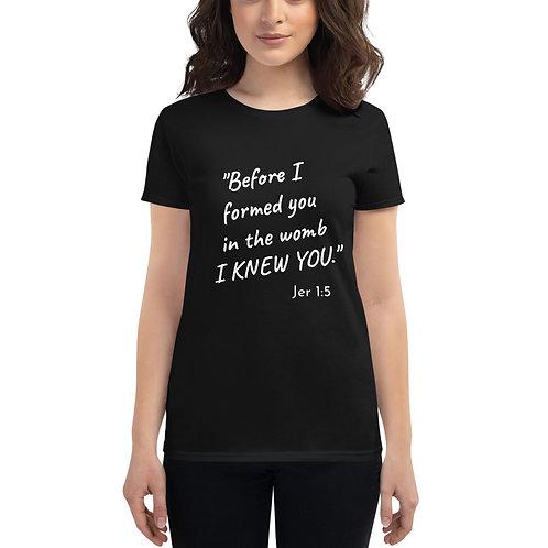 Jer 1:5 Women's short sleeve t-shirt