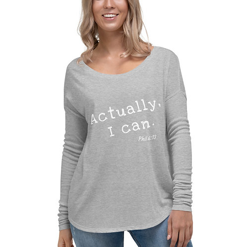 Phil 4:13 Ladies' Long Sleeve Tee