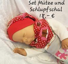 Set Mütze und Schlupfschal 18,-€