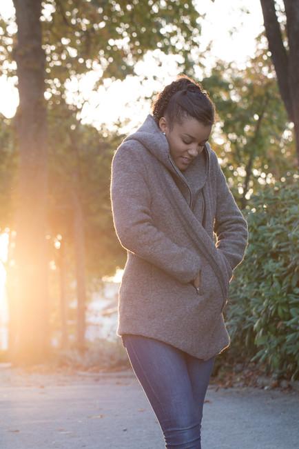 hiver,manteau,shooting,soleil