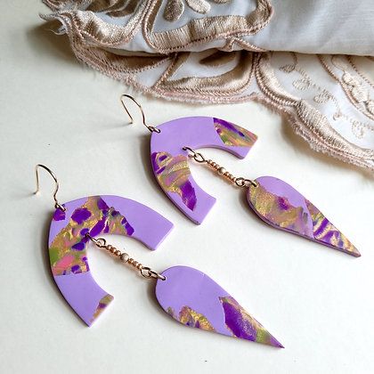 ANGELINA Earrings - lilac/gold