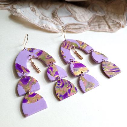 CARMELITA EARRINGS - lilac/gold
