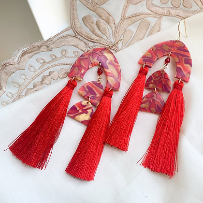 ALITA Earrings - red/gold