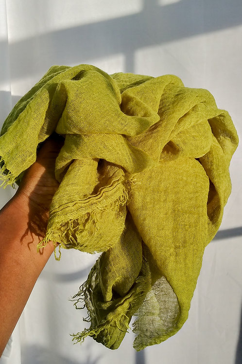 LIME Crinkled Cotton