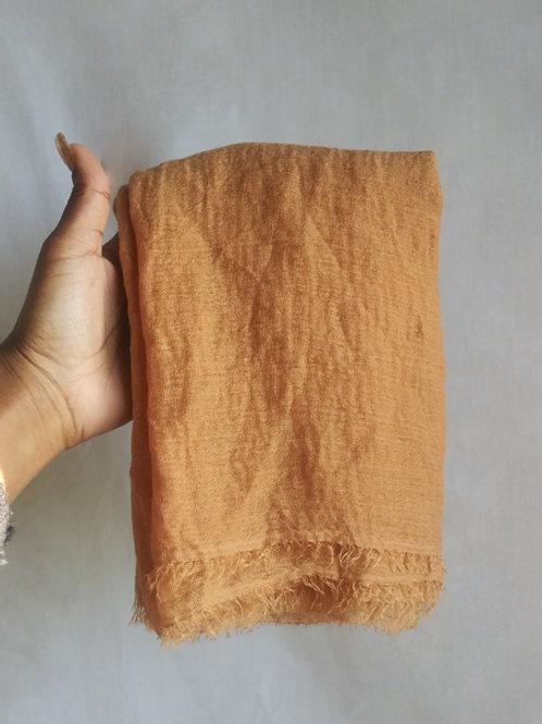 CARAMEL Crinkled Cotton