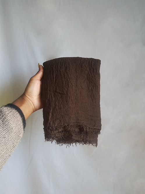 CHOCOLATE Crinkled Cotton