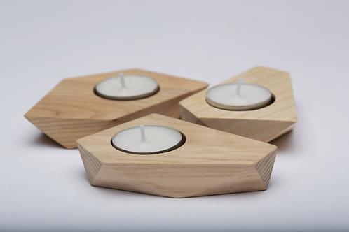 Polygon Tea Light holders (Set of 3)