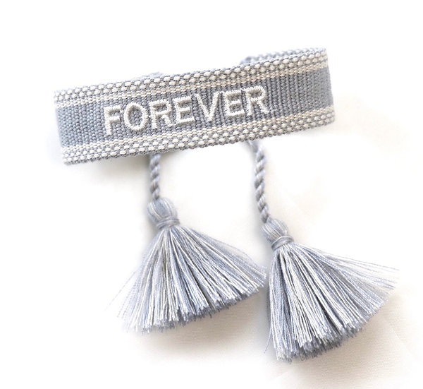 """Canvas-Armband """"Forever"""""""