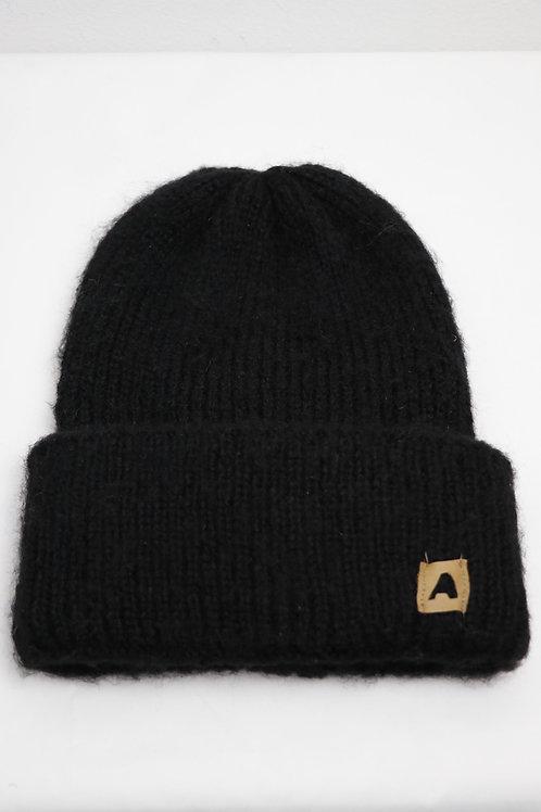 Hipster Mütze kuschelweich - schwarz