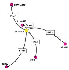 Localisation de la commune Le Pailly