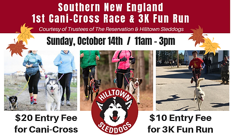 Hilltown Sleddogs October 14th Cani-Cros