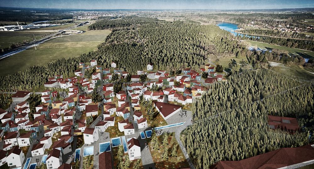 Housing in nature scenario