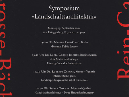 Lecture at ETH Zürich