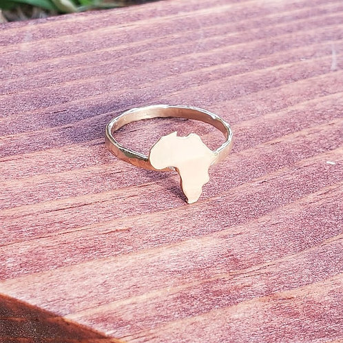 Brass Africa Stacking Ring