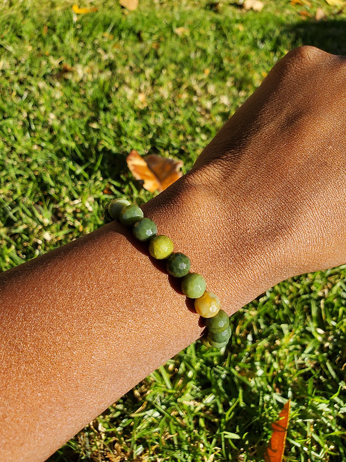 Faceted Jade Bracelet