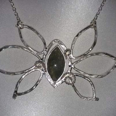 Hammered Labradorite Necklace