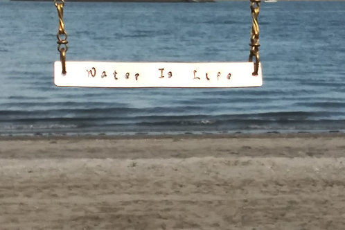 Water is Life Bar Necklace