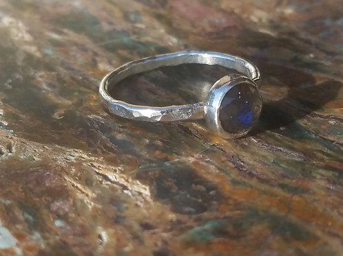 Dark Labradorite Stacking Ring