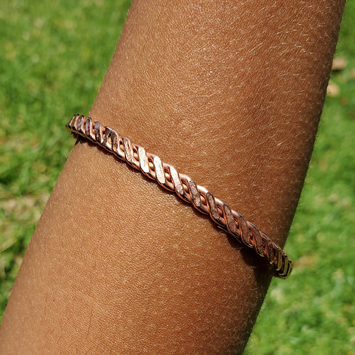 Copper braided bangle