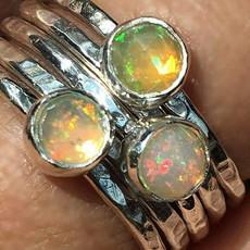 Rose Cut Opal Stacking Rings