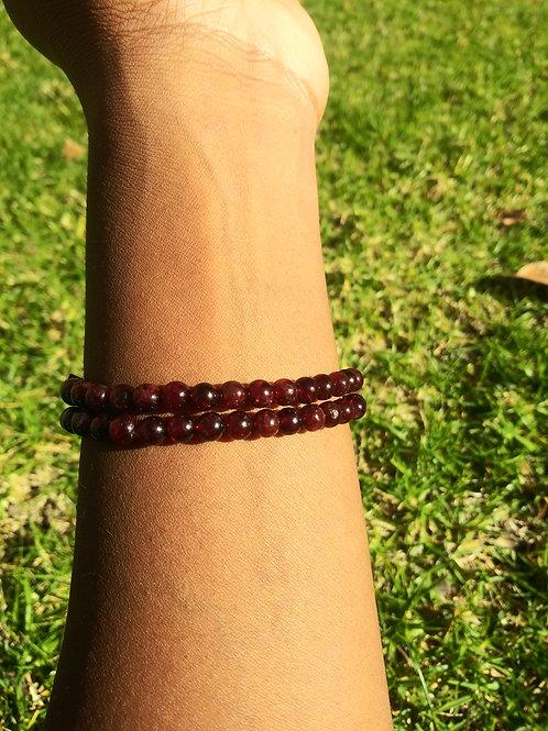 Garnet beaded bracelets