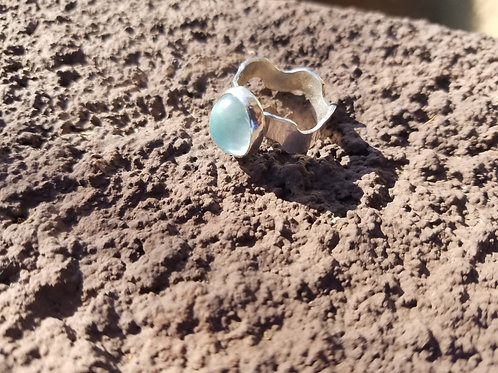 Aquamarine Wave Ring
