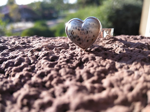 Montana Agate Heart Ring