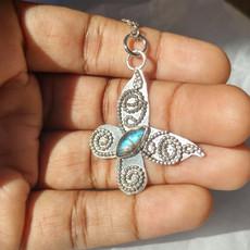 Labradorite Filigree Butterfly