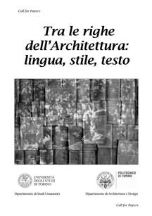 Tra le righe dell'Architettura: lingua, stile, testo