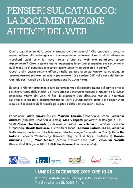 PENSIERI SUL CATALOGO: LA DOCUMENTAZIONE AI TEMPI DEL WEB