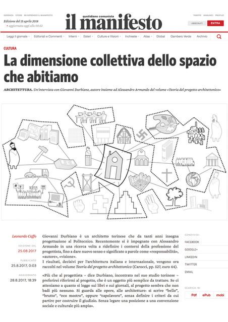 'La dimensione collettiva dello spazio che abitiamo' in Il Manifesto