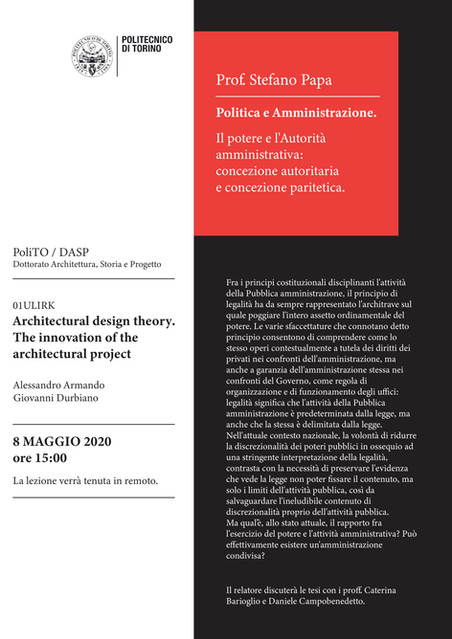 Politica e amministrazione