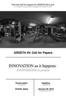 INNOVATION AS IT HAPPENS - Ardeth #5