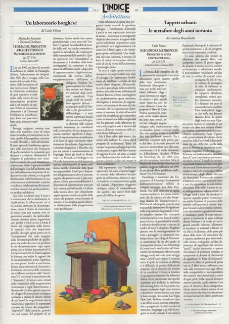'Un laboratorio Borghese' in L'indice