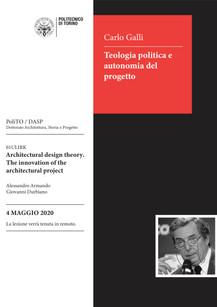 Carlo Galli: Teologia politica e autonomia del progetto