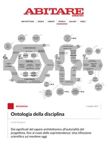'Ontologia della disciplina' in Abitare
