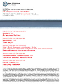ARCHITECTURE RESEARCH AGENDA OPEN LECTURES