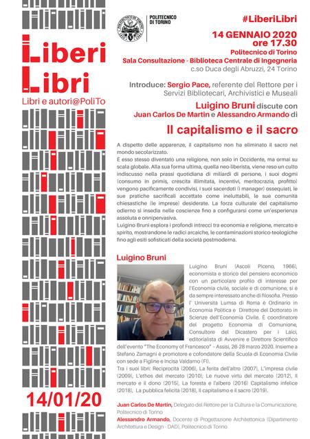 Liberi Libri. Il capitalismo e il sacro.