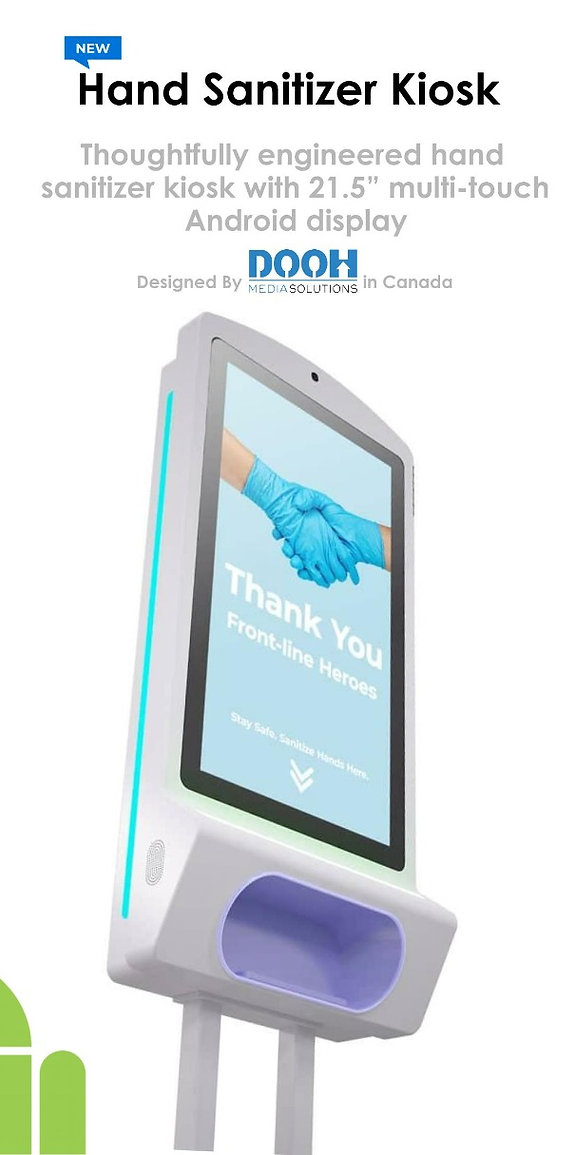 New Hand Sanitizer Kiosk