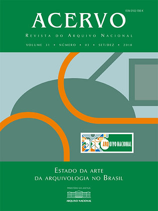 Revista Acervo v. 31 n. 3. Estado da arte da arquivologia no Brasil - 1