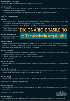 Dicionário brasileiro de terminologia arquivística
