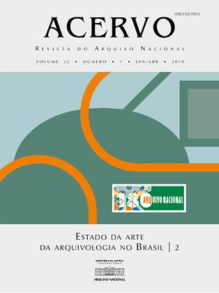 Revista Acervo v. 32 n. 1. Estado da arte da arquivologia no Brasil - 2