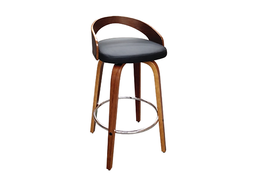Cheetah Barstool Black