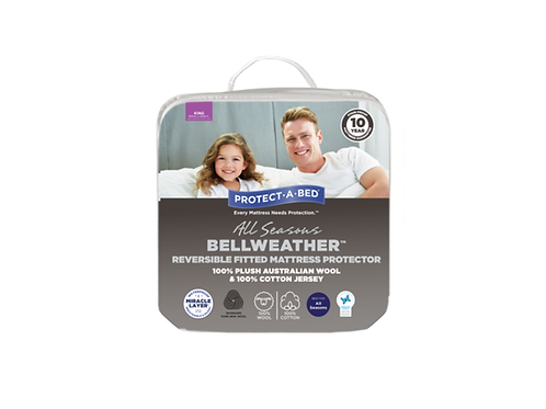 Bellweather™ Reversible Wool/Cotton Jersey Fitted Mattress Protector Range
