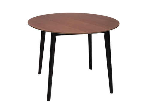 Loft Round Dining Table Walnut