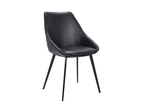 Ashley Dining Chairs - Black PU